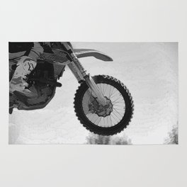 Motocross Dirt-Bike Racer Rug