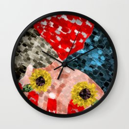 happy valentines lovers Wall Clock