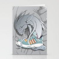 sneaker Stationery Cards featuring Sneaker Monster by Hexstatic