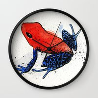 frog Wall Clocks featuring Frog by Jacob Haynes