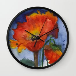 Flowers  Emerged Wall Clock