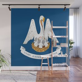 Flag of Louisiana -Louisianian,south, jazz,blues,french, new orleans, baton rouge,usa,america,us Wall Mural