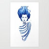 Watercolour Faery Art Print