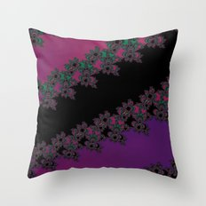 Fractal Layered Lace  Throw Pillow