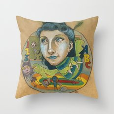 Kindermonsters Throw Pillow