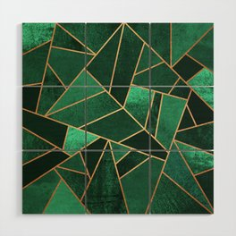 Emerald and Copper Wood Wall Art