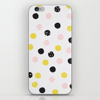 polka dot iPhone & iPod Skins featuring Polka Dot  by Naomi Hadfield