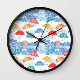 Umbrella Spring - by Kara Peters Wall Clock