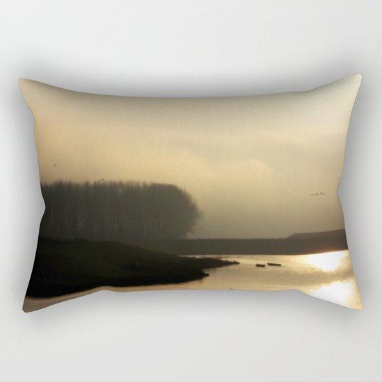 Golden Light - JUSTART © Rectangular Pillow