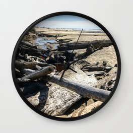 Drifting on Newport Beach Wall Clock