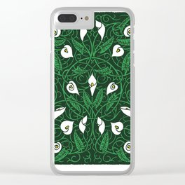 Arum Lillies Clear iPhone Case