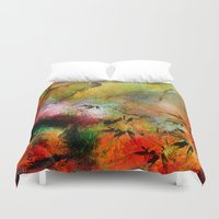 chinese Duvet Covers featuring Chinese landscape by Ganech joe