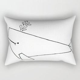 Very whale! Rectangular Pillow