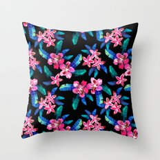 Tahitian Garden {B} Throw Pillow