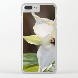 A White Trillium in the Smoky Mountains Clear iPhone Case