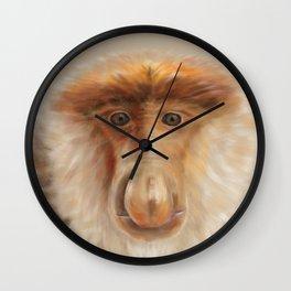 Probosci Monkey Portrait Wall Clock