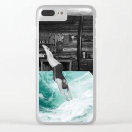 Dive In Clear iPhone Case