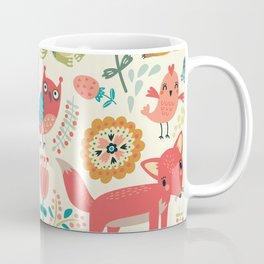 Woodland Animal Pattern Coffee Mug