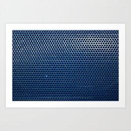 Blue Grill Art Print