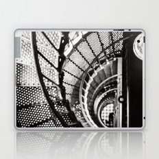 Spiral staircase black and white Laptop & iPad Skin