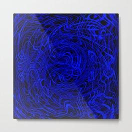 blue swirls Metal Print