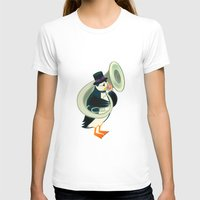 puffin T-shirts featuring Puffin On A Tuba by Oliver Lake