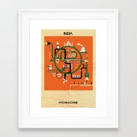 india Framed Art Prints featuring India by federico babina