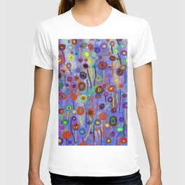Abstract Flowers Wild T-shirt