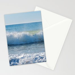 High waves and water splashes in Andalusia, Spain, mediterranean coast Stationery Cards