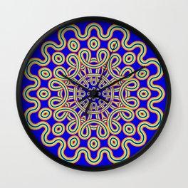 The Colourful Curly Mandala Wall Clock