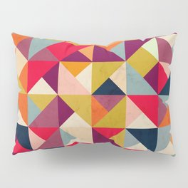 Bright Geometric Happy Pattern Pillow Sham