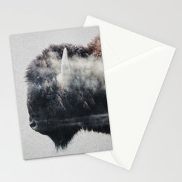 Wild West Bison Stationery Cards