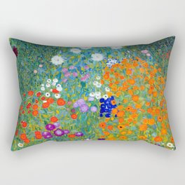 Gustav Klimt Flower Garden Rectangular Pillow