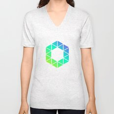 Tiny Triangles Unisex V-Neck