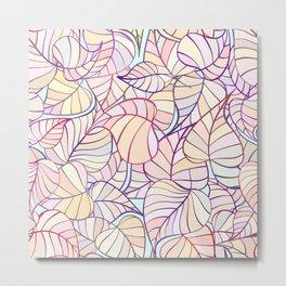 leafs color pattern Metal Print