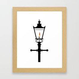 Victorian Isolated Gaslight Framed Art Print