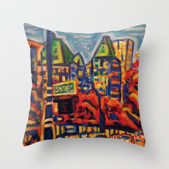 Southbound City Traffic, Vancouver Throw Pillow