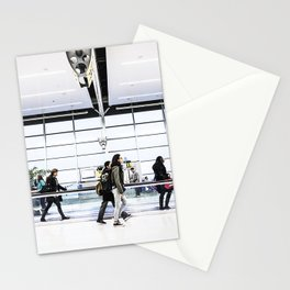airport hurry Stationery Cards