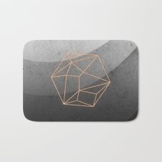 Geometric Solids on Marble Bath Mat