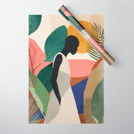 Tropical Girl Wrapping Paper