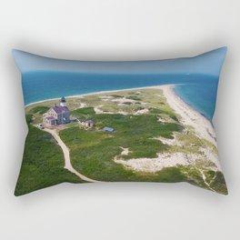 Otherworldly, Northeast Lighthouse and Sandy Point, Block Island, Rhode Island Rectangular Pillow