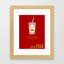Pulp Non-Fiction Minimalism Framed Art Print