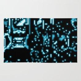 Neon circuits Rug