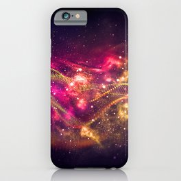 Abstract Nebula #13: Purple red particles iPhone Case