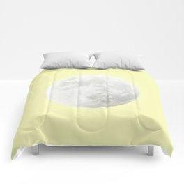 WHITE MOON + CANARY YELLOW SKY Comforters