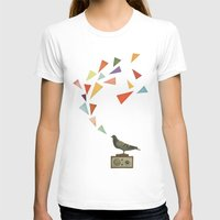 radio T-shirts featuring Pigeon Radio by Cassia Beck