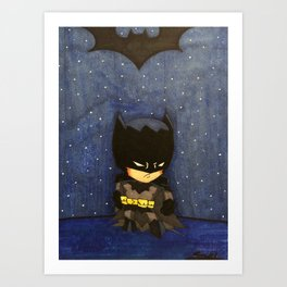 Chibi Style Bats Art Print