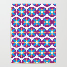Purple Circle Flower Power Poster