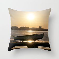 Frozen on the Charles Throw Pillow