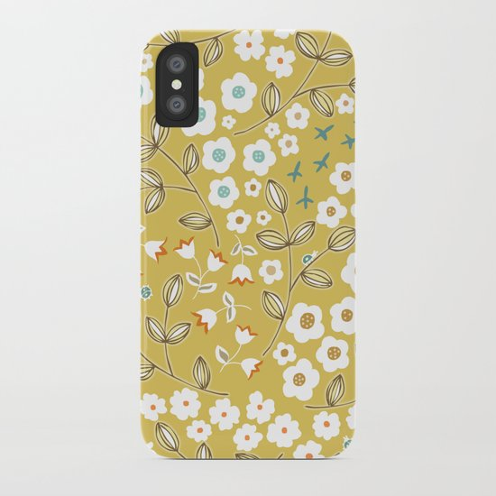 Ditsy Mustard iPhone Case